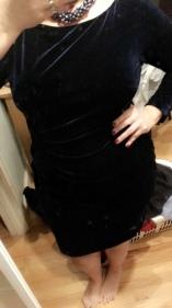 Saturday Night- My new dress- Ralph Lauren blue velvet soooo comfy