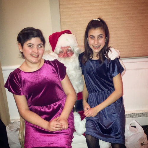 Girls w Santa 2017 at Mission Oak