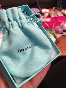 when your husband surprises you at the end of the morning. :) Every girl wants the blue box w white ribbon.