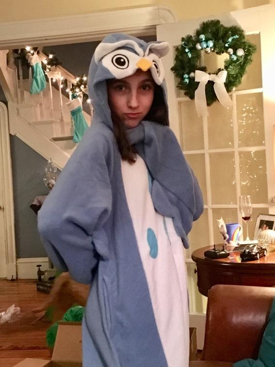 She loves her owl onsie...smh