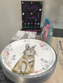 The cutest plates. I love bunnies