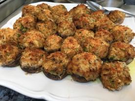 Crab no carb mushrooms