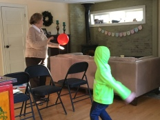 My mom playing her youngest grandson