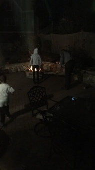 kids started a fire...yup. the kids