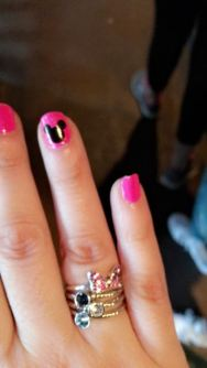 Mickey Mouse head nail decals..everyone loved these, even the elderly man who sat next to me on the plane!!