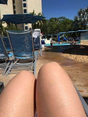 This was the only row available with seats! RIGHT BY THE HOT TUB TYVM!!