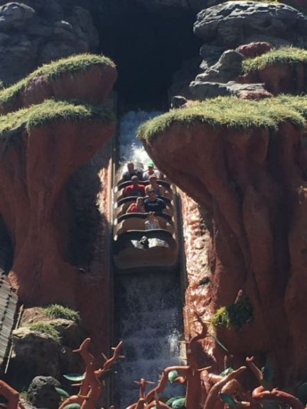 Nope, Splash Mountain and I don't mix for some reason.