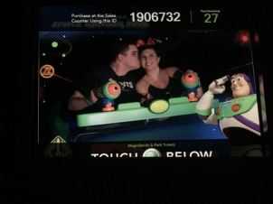 Kissing on Buzz. We are cute, I know :)