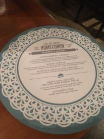 Even the dessert menu was pretty