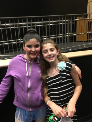 w her cousin at intermission
