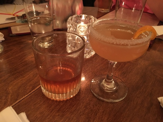 sazerac and side car...his and hers <3