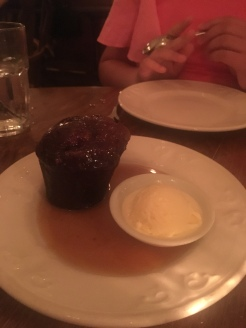 Toffee pudding n ice cream