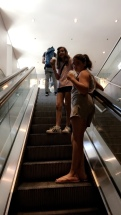 They love escalators..idk why