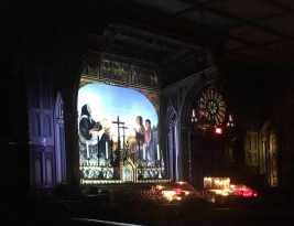 Aura light show in the basilica, Montreal