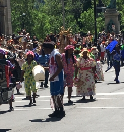 There was an awesomely huge Caribbean parade happening that we danced to for like an hour. It was over two miles long!!