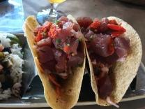 Tuna Crudo Tacos