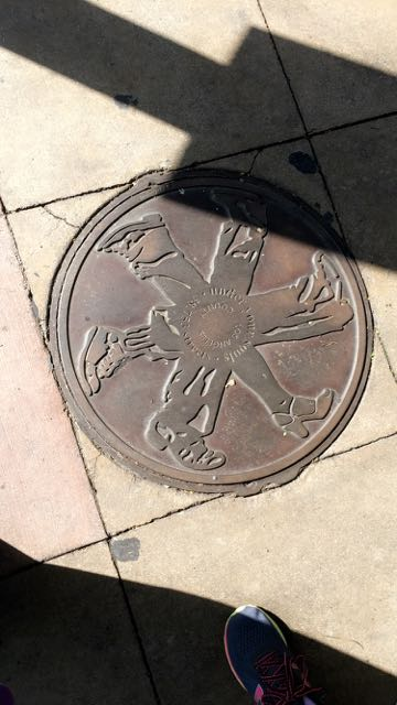 I love how some cities have decorative sewer covers :)