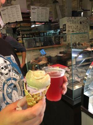 Ice Cream and Rose Cider