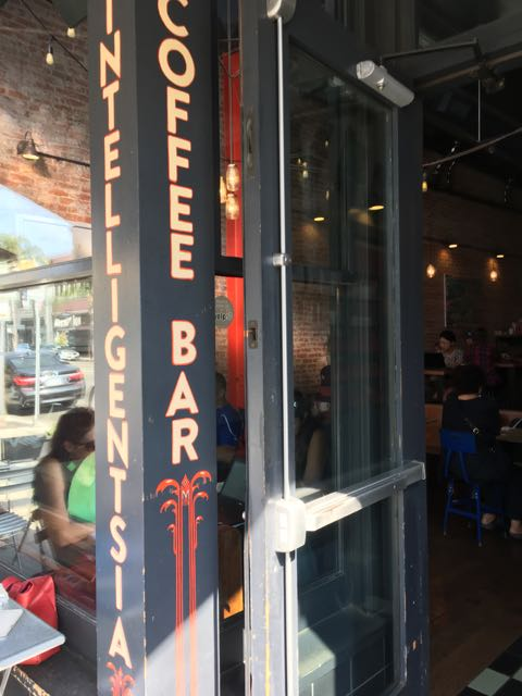 First stop- Coffee and bfast at Intelligentsia