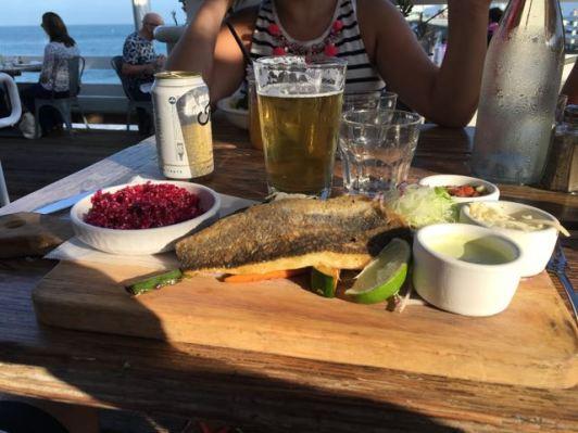 Malibu Farm- fish tacos