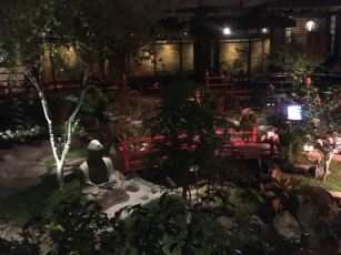 The courtyard inside the restaurant