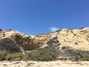 cliffs at Crystal Cove State Park