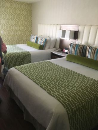 Indigo Hotel Anaheim- super clean and they offer Aveda bathroom products which is what I love. Go HOtEl!