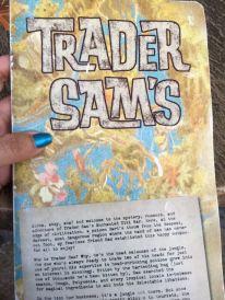 Trader Sam's menu