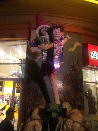 Downtown Disney- Lego Store- Pixar Fest Woody and Buzz
