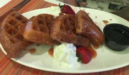 Churro Waffles- Indigo Hotel