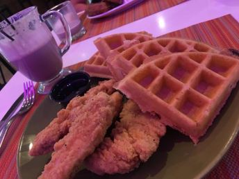 Chicken and waffles Indigo Hotel