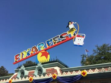 Pixar Fest signage was so cute at the gate