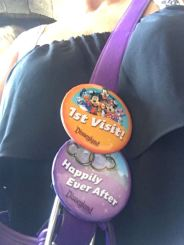 Well and happily ever after pin too. :) if they had any Birthday ones it'd be the trifecta of buttons for this family!