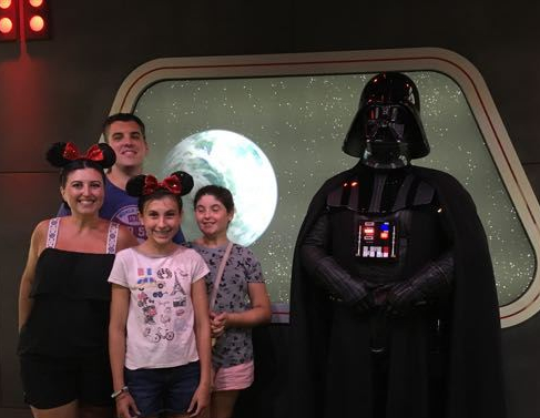 We never got to meet Vader before.. he is creepy af in person. I was trying to move away from him cuz he had it for me.. smh