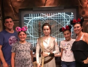 Meeting Rey was meh.. our youngest who loves her left there disappointed somehow.