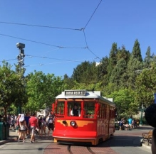 Disney California Adventure trolley