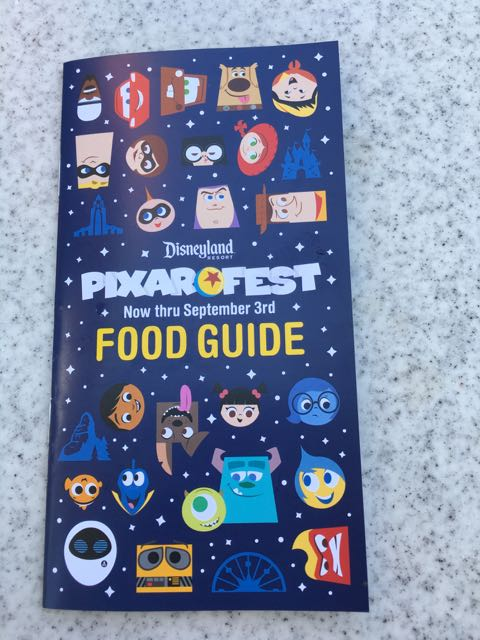 Pixar Fest Food Guide- Disneyland
