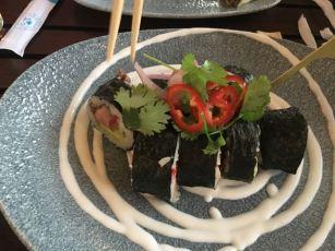 Lamplight Lounge- carne asada rolls