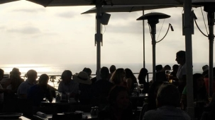 View from Ocean Deck of George's on the COve La Jolla
