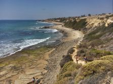 Crystal Cove State Park- me and our youngest at the end of the path