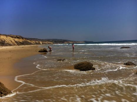 only ppl at Crystal Cove State Park
