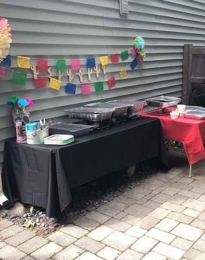 Food table set up