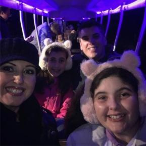 On the glowing train...Ecotarium Great Pumpkin Festival