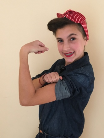 Rosie the Riveter.. she loved this costume.