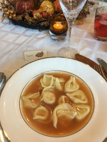 Tortellni in broth.. so gooooood