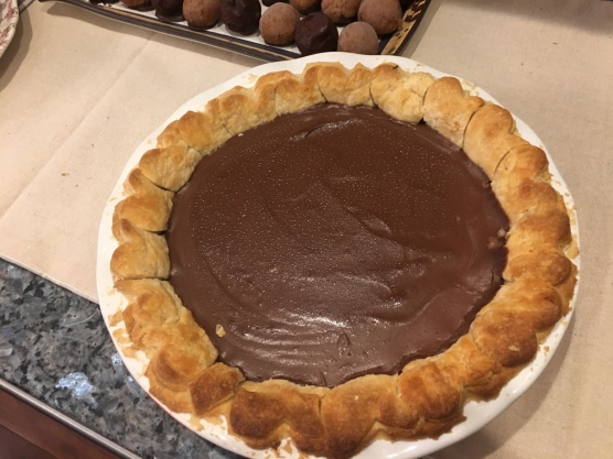 My husband's pudding pie