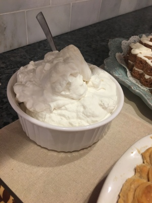 we like to make whipped cream, it really is too good to pass up