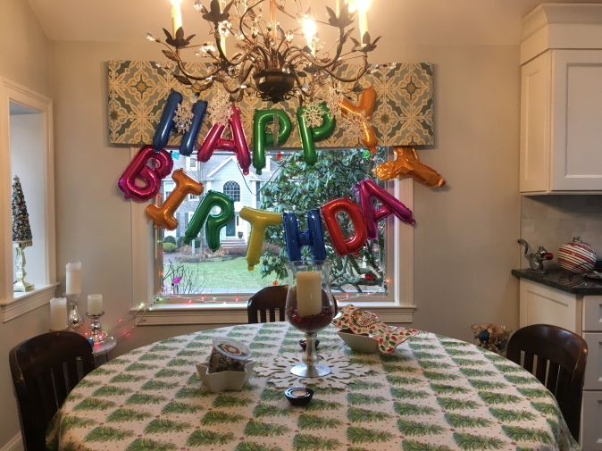 My house was set.. dont make fun of that Y balloon. It would stay inflated, and bahh that bothered me. hahah