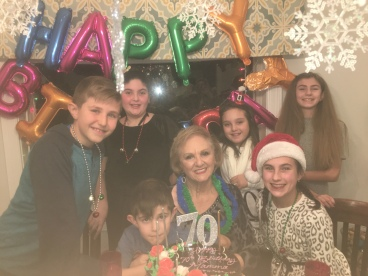 With all of her grandchildren