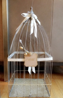 Re-themed my birdcage for this party